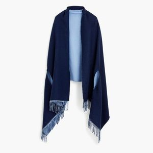 J.Crew Reversible 2 TonesCape Scarf in Blue *NWT*